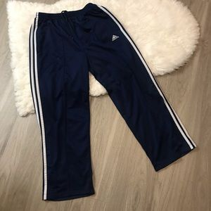 Adidas Blue White Striped Men's Drawstring Pants